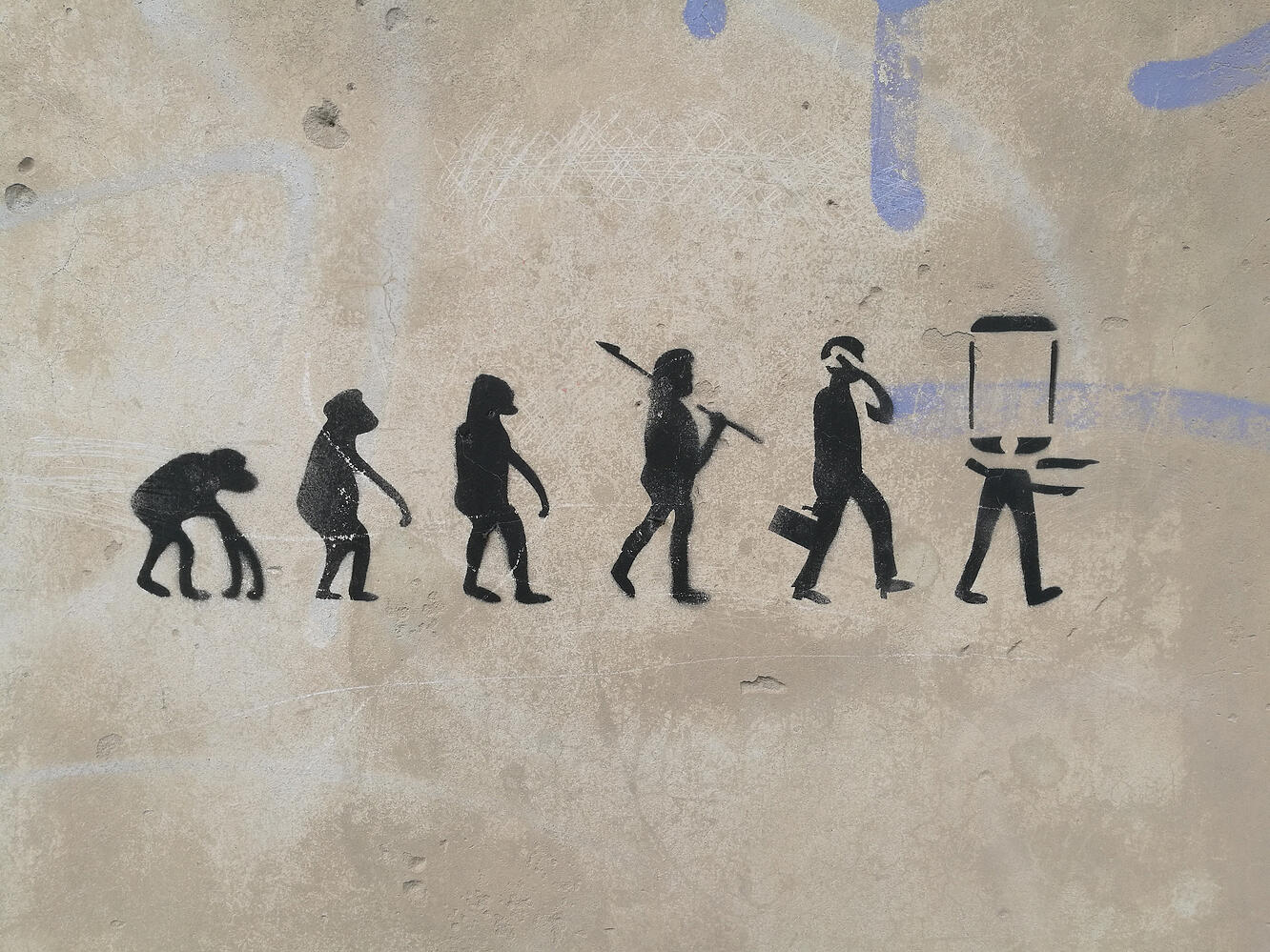 Evolution of man to a phone and the latest SEO trends