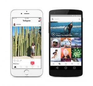 Instagrams new app design